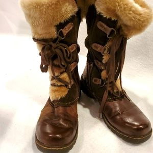 BareTraps Betheny Brown Size 7 Boots